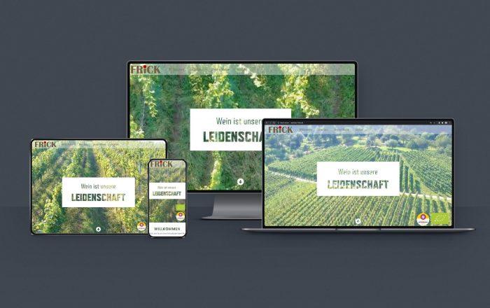 Weinbau Frick Webdesign